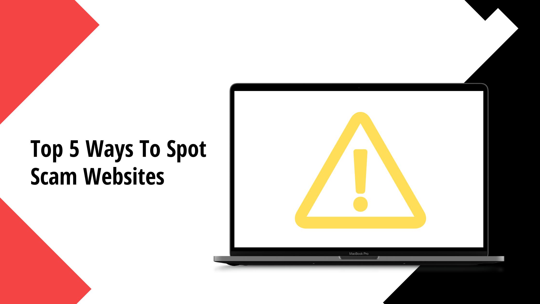 how to spot scam websites